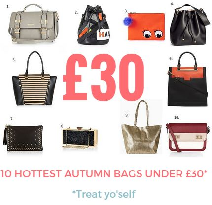 Hottest Autumn Bags Under £30